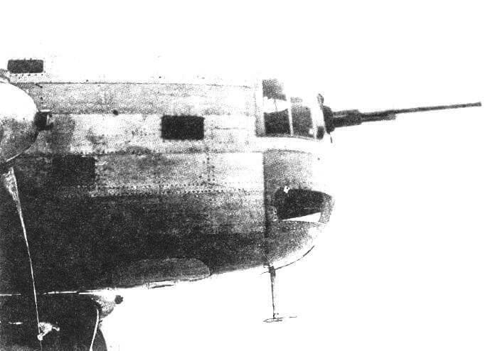 Передняя установка 20-мм пушки ШВАК в кабине штурмана Средняя башня с 20-мм пушкой ШВАК