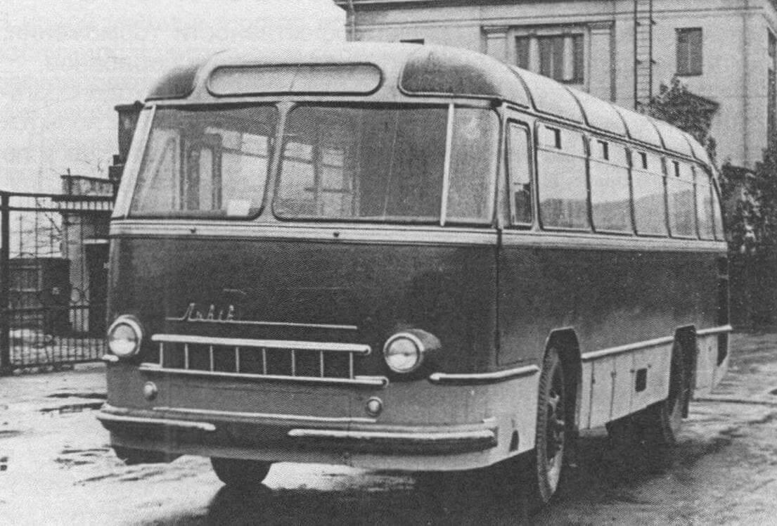 Автобус ЛАЗ-695. Ленинград, 1960 год