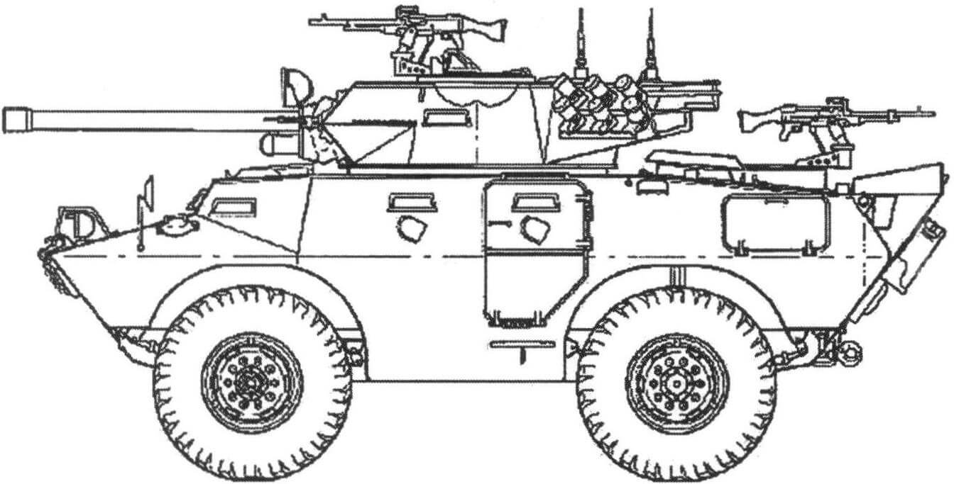 «Коммандо» V-150 с 90 мм пушкой «Мекар»