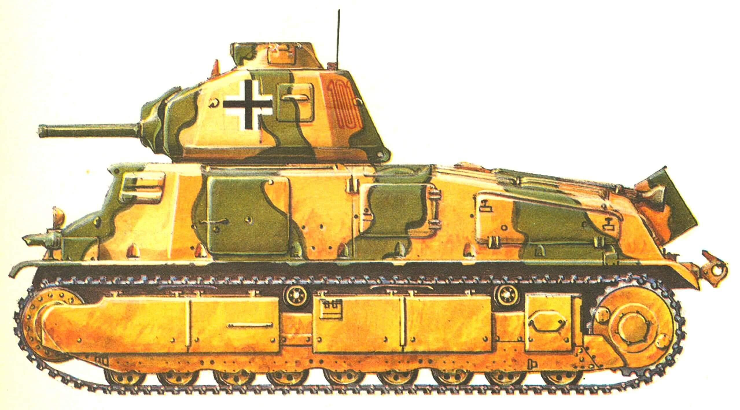 Somua S35. 202-й танковый батальон (Pz.Abt.202). Балканы, 1944 г.