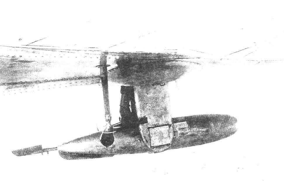 Нижняя установка с 7,6 2-мм пулеметом ШКАС