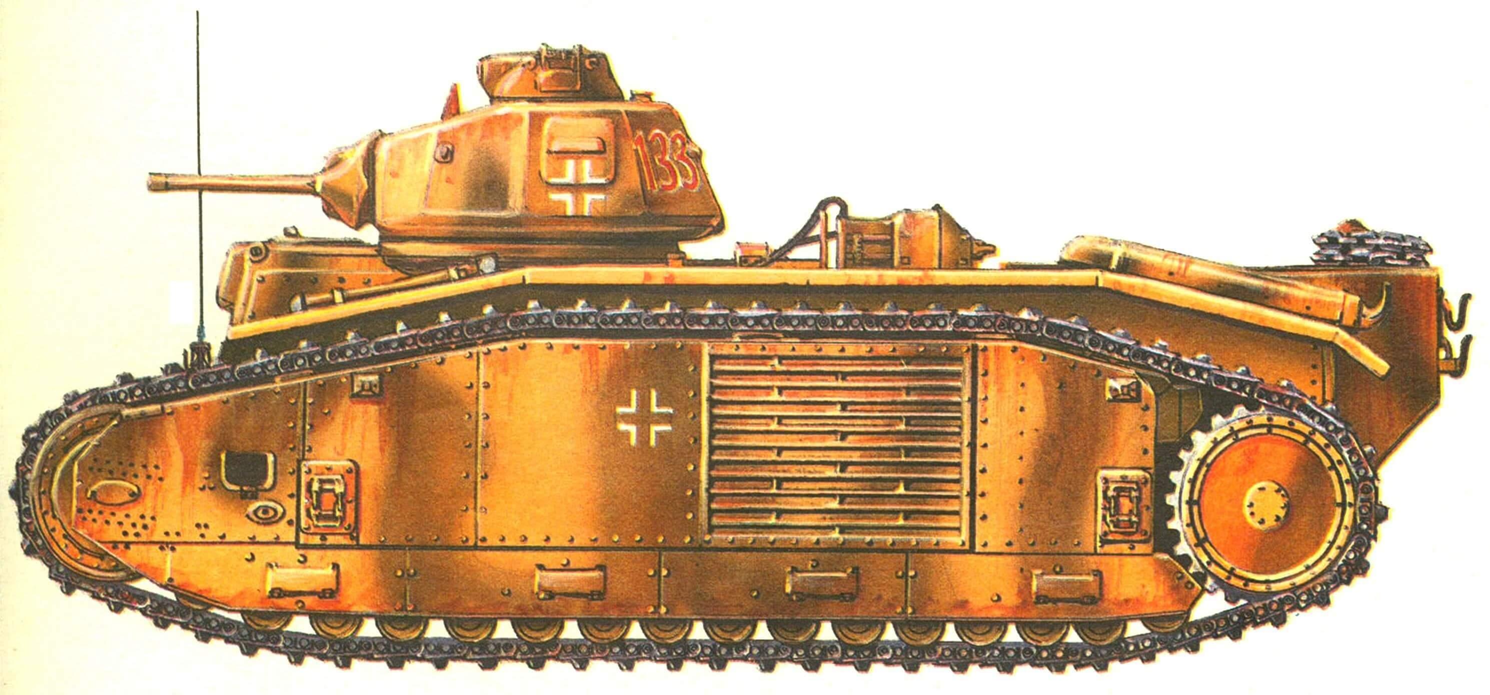 Огнеметный танк B1bis. 213-й танковый батальон (Pz.Abt.213). Нормандия, 1944 г.