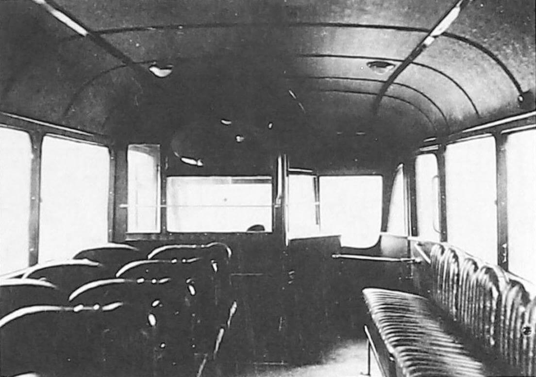 Салон автобуса ЗИС-8 трехосный (фото предоставлено ООО «ТД «СПАРЗ»)