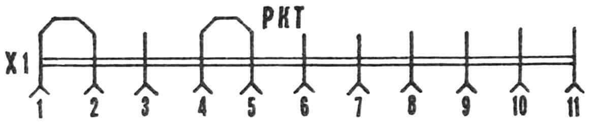 Разъем-колодка к ТА-12.