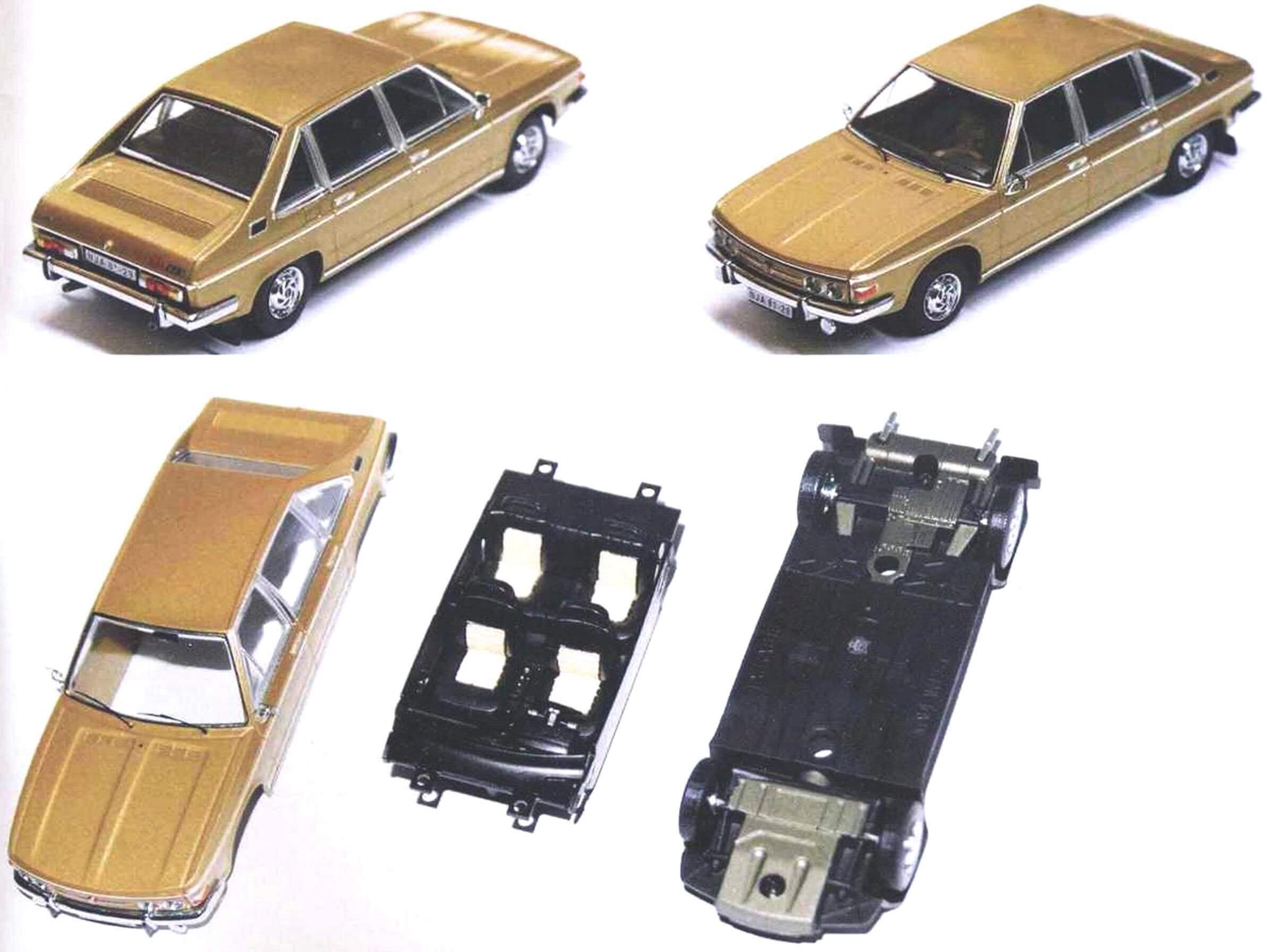 Модель Tatra 613 в масштабе 1:43 производства фирмы istmodels довольно точно воспроизводит прототип, за исключением передних указателей поворота. Деталировка копии соответствует версии Tatra 613-2, которая выпускалась с 1980 года. Золотистая окраска характерна для выставочных экземпляров, большая часть серийных автомобилей окрашивалась в черный цвет.
