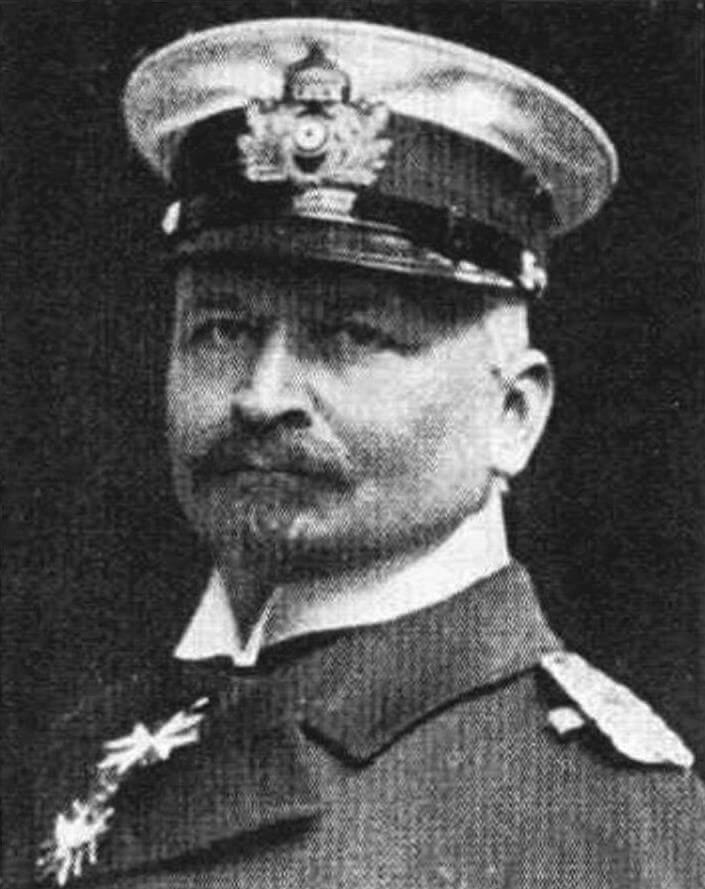 Командир легкого крейсера «Нюрнберг» капитан цур зее фон Шенберг