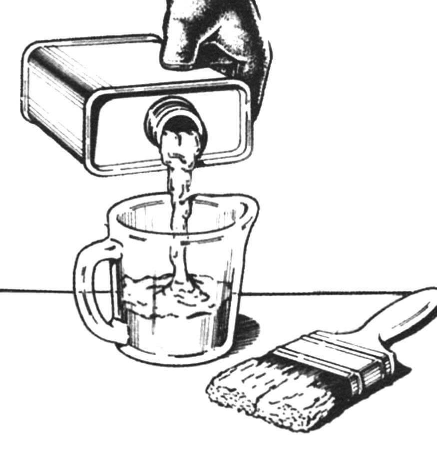 Подготовка «ванны» для кисти