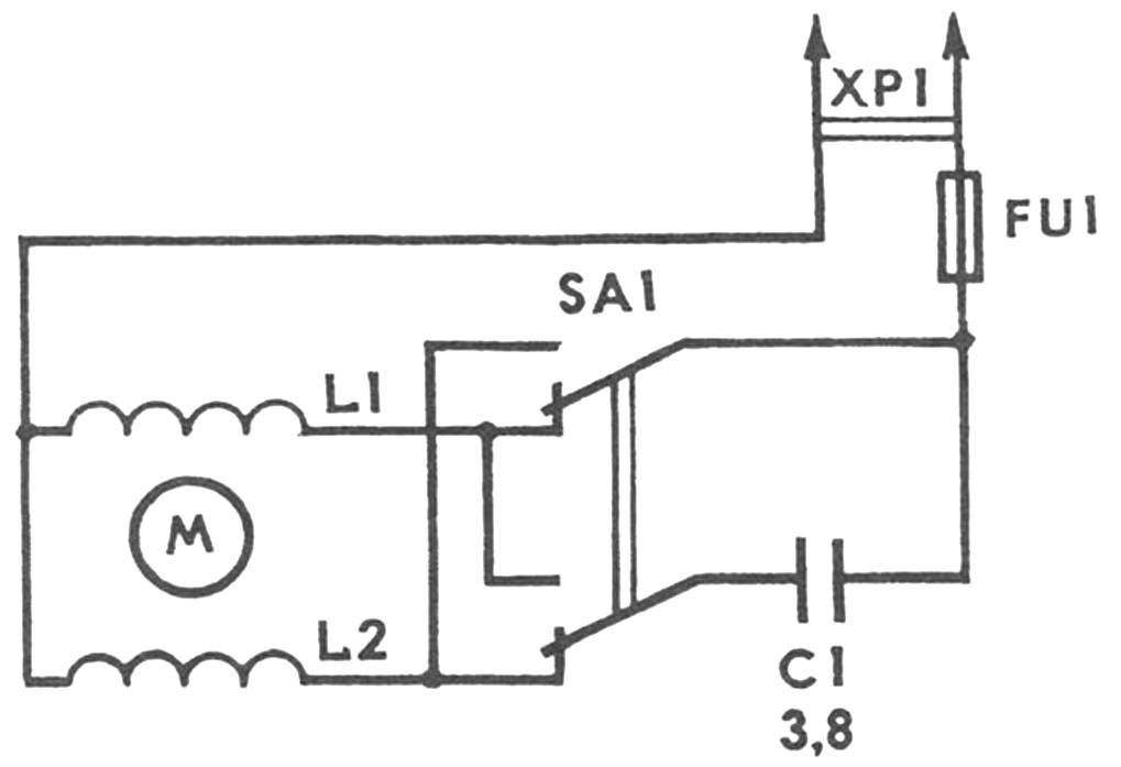 Рис. 2. Принципиальная электрическая схема микромельницы