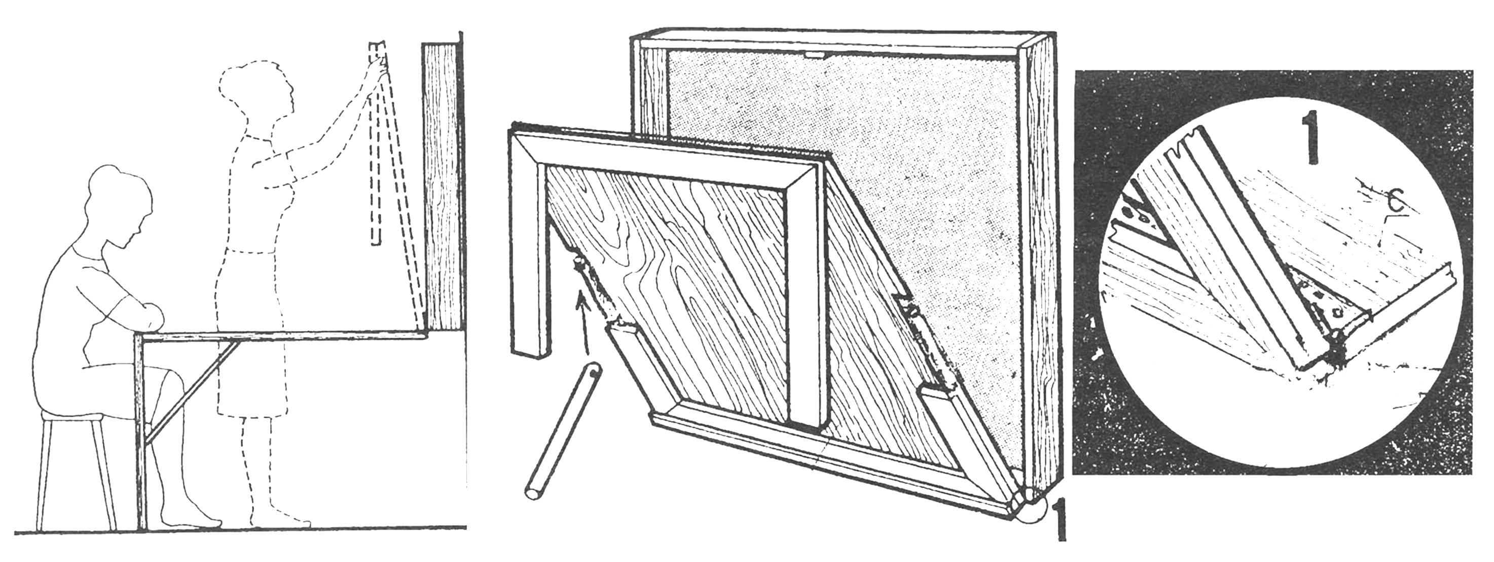 Рис. 1. Складывающийся стол-картинка