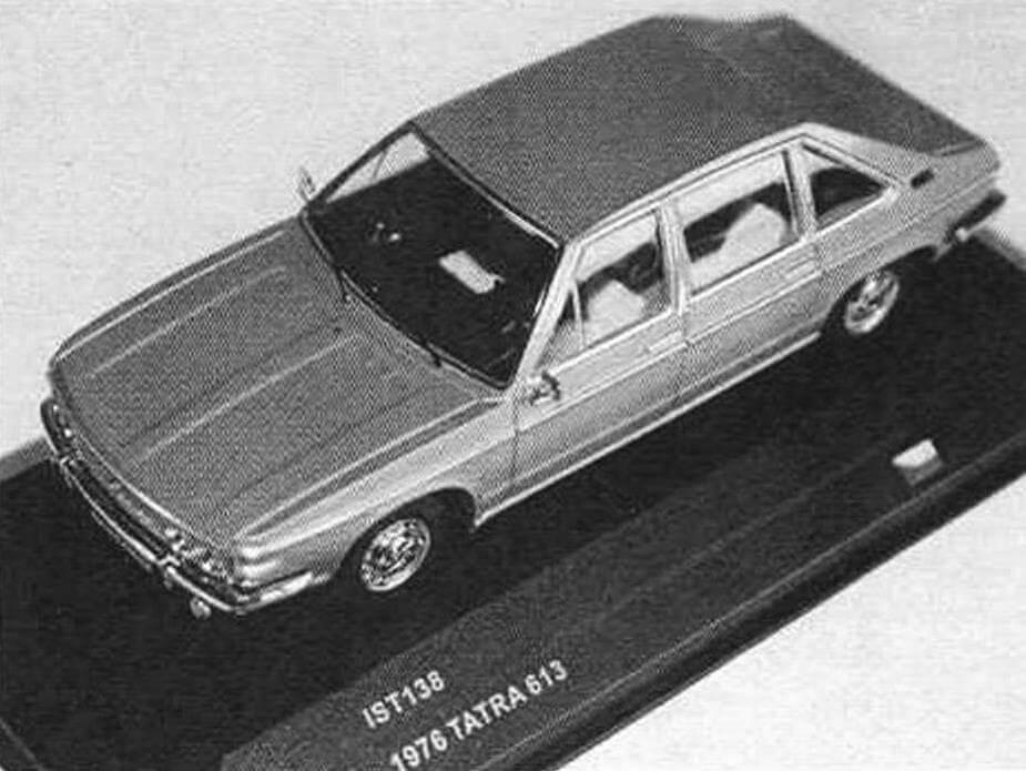 Модель Tatra 613 в масштабе 1:43 золотистого цвета выпускает фирма istmodels. Также существуют «журнальные» версии различных расцветок с упрощенной деталировкой