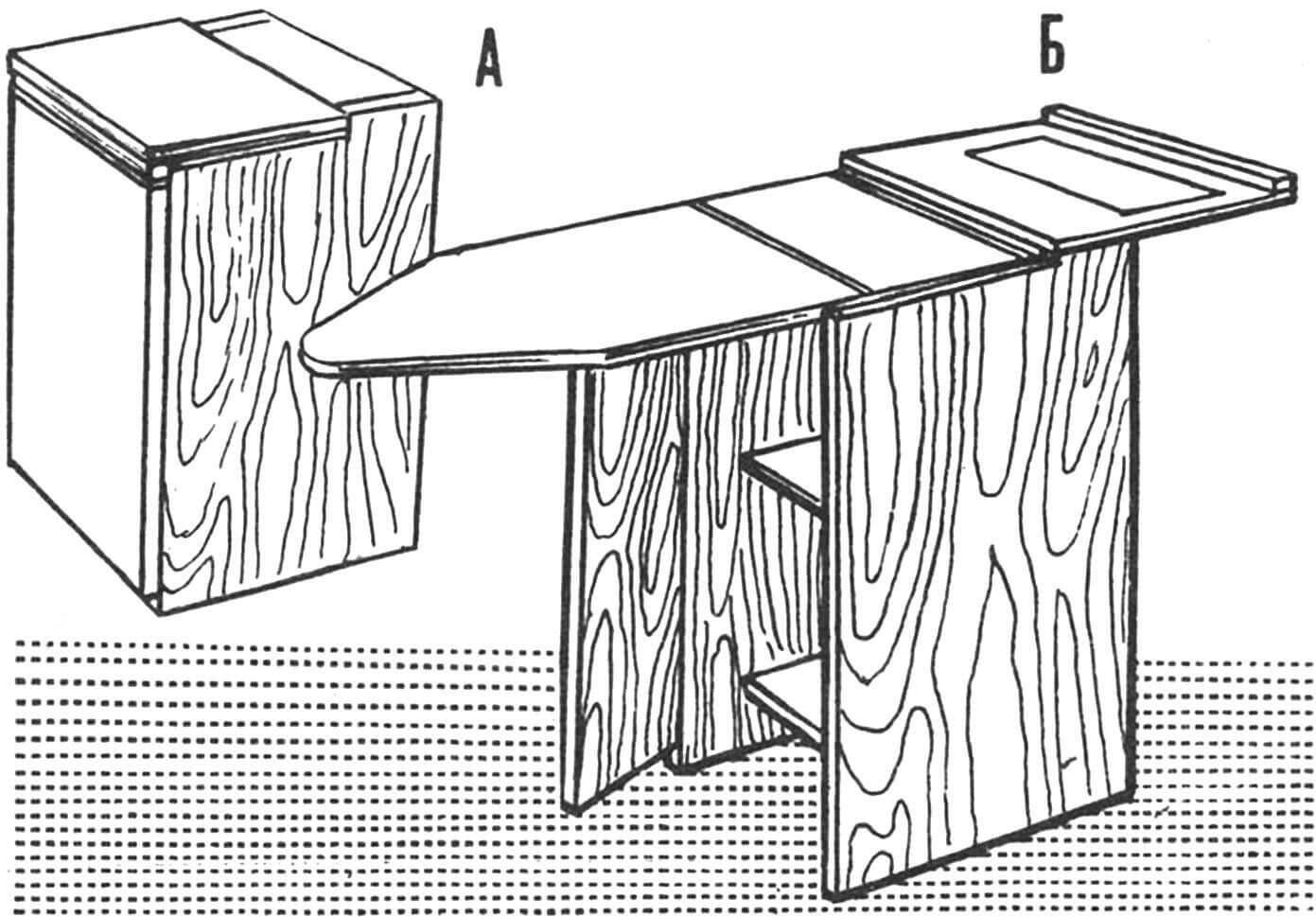 Рис. 1. Тумба — гладильная доска