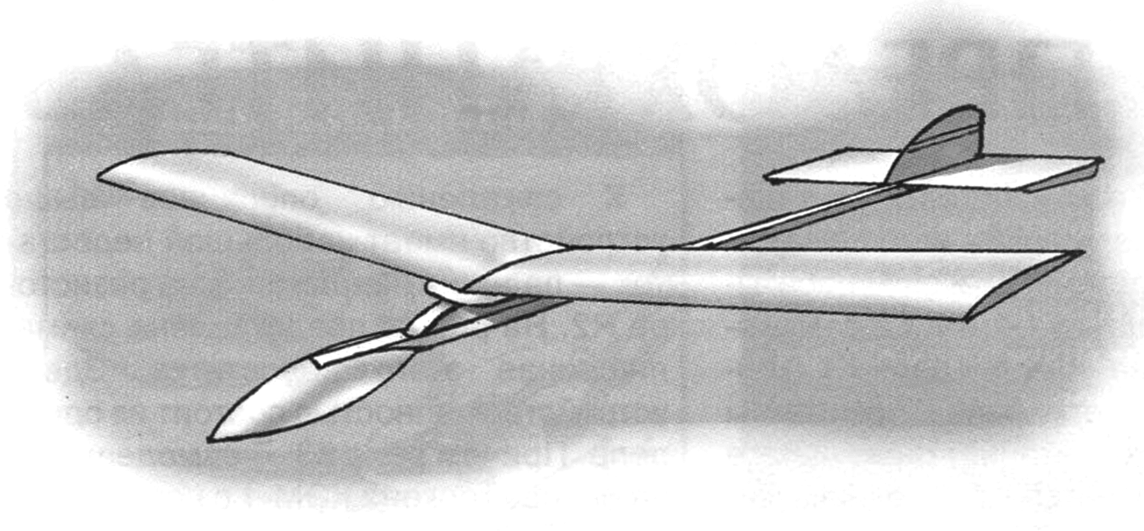 СХЕМАТИЧКА БЬЕТ РЕКОРДЫ (Планер-«схематичка » улучшенной конструкции)