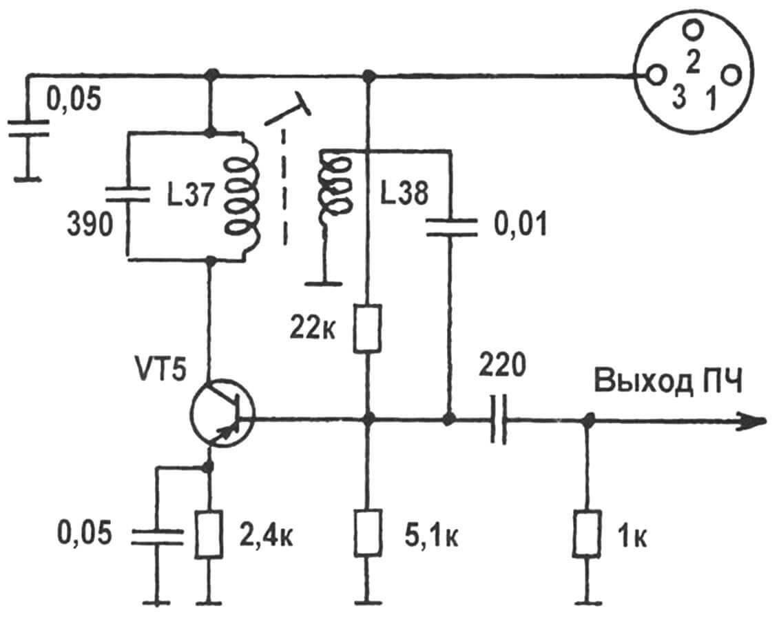 Рис. 1. Принципиальная схема генератора промежуточной частоты