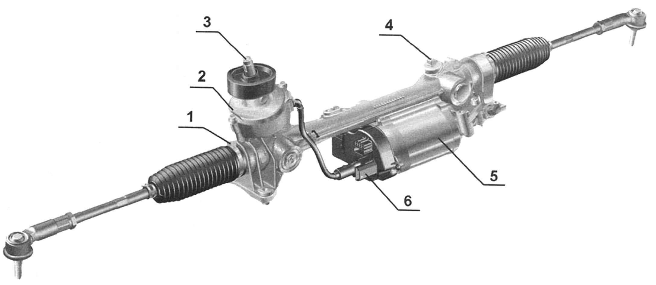Схема рулевого управления VW Golf V с электроусилителем