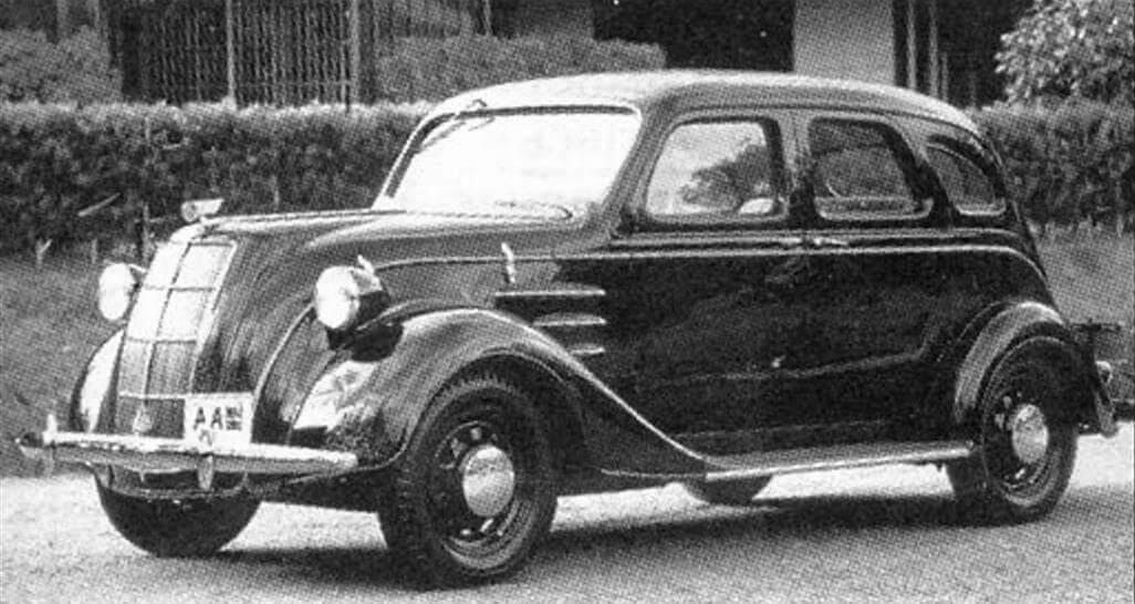 """Toyota АА выпуска 1936 года, сделанная по образцу американского """"аэродинамического"""" автомобиля Chrysler Airflow выпуска 1934 года"""