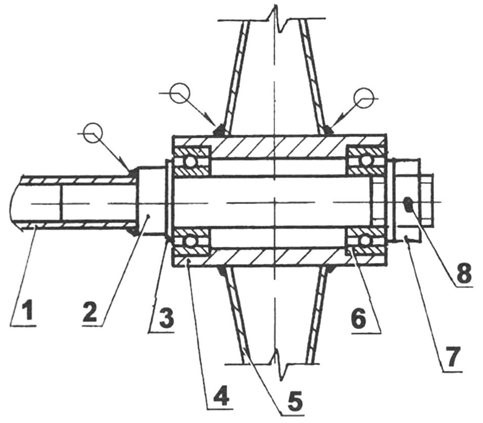 Опорно-движущийся узел тележки (2 шт.):