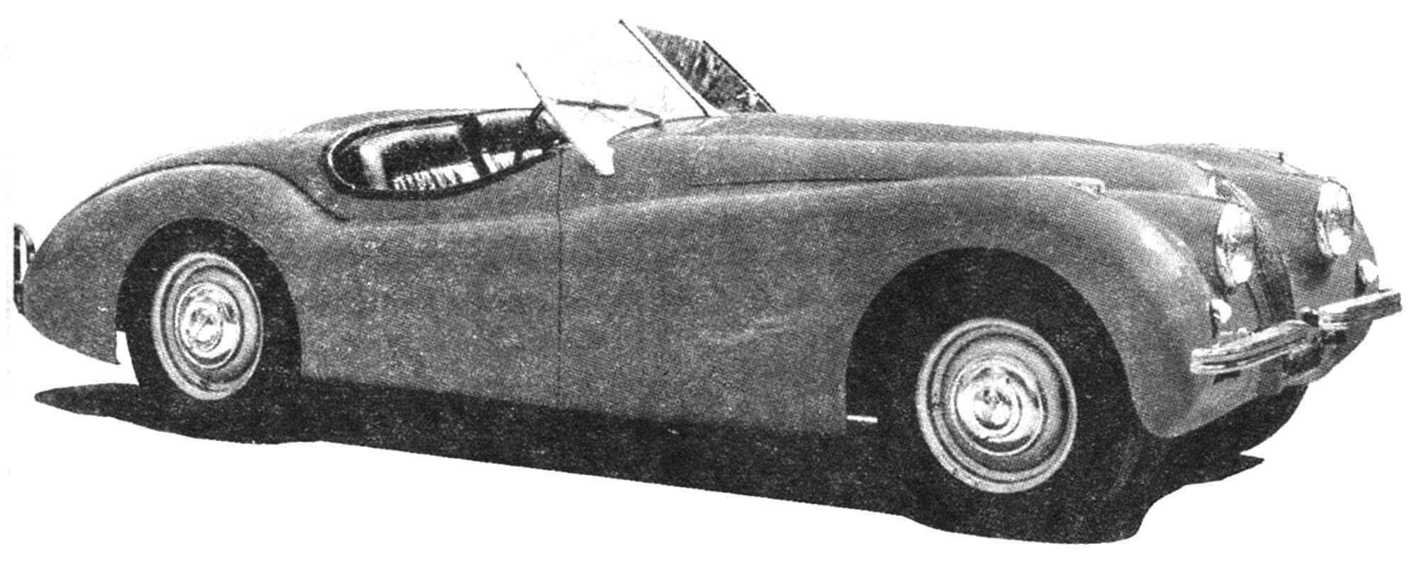 Автомобиль Jaguar ХК 120 1949 года
