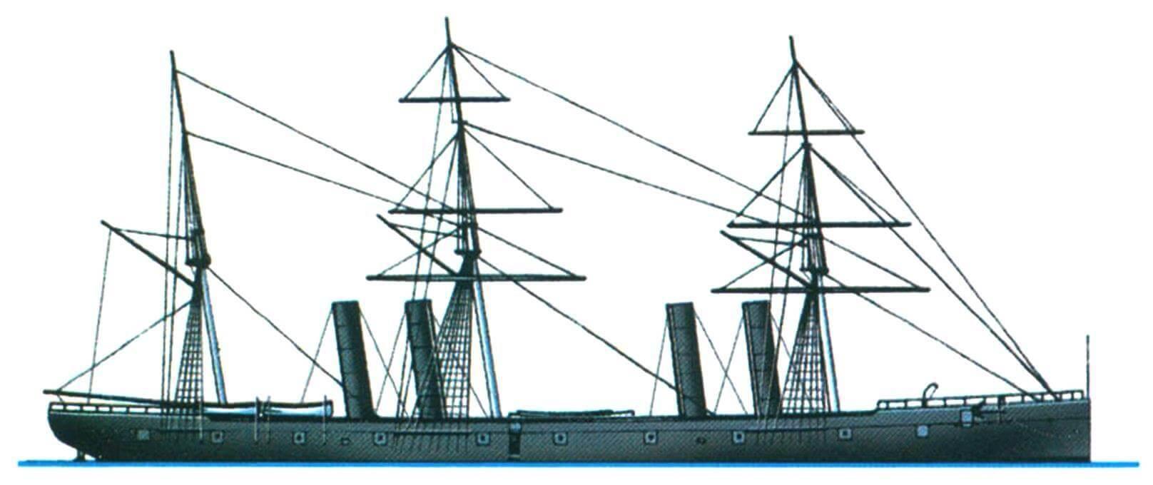 Винтовой фрегат «Вампаноа», США, 1868 г.