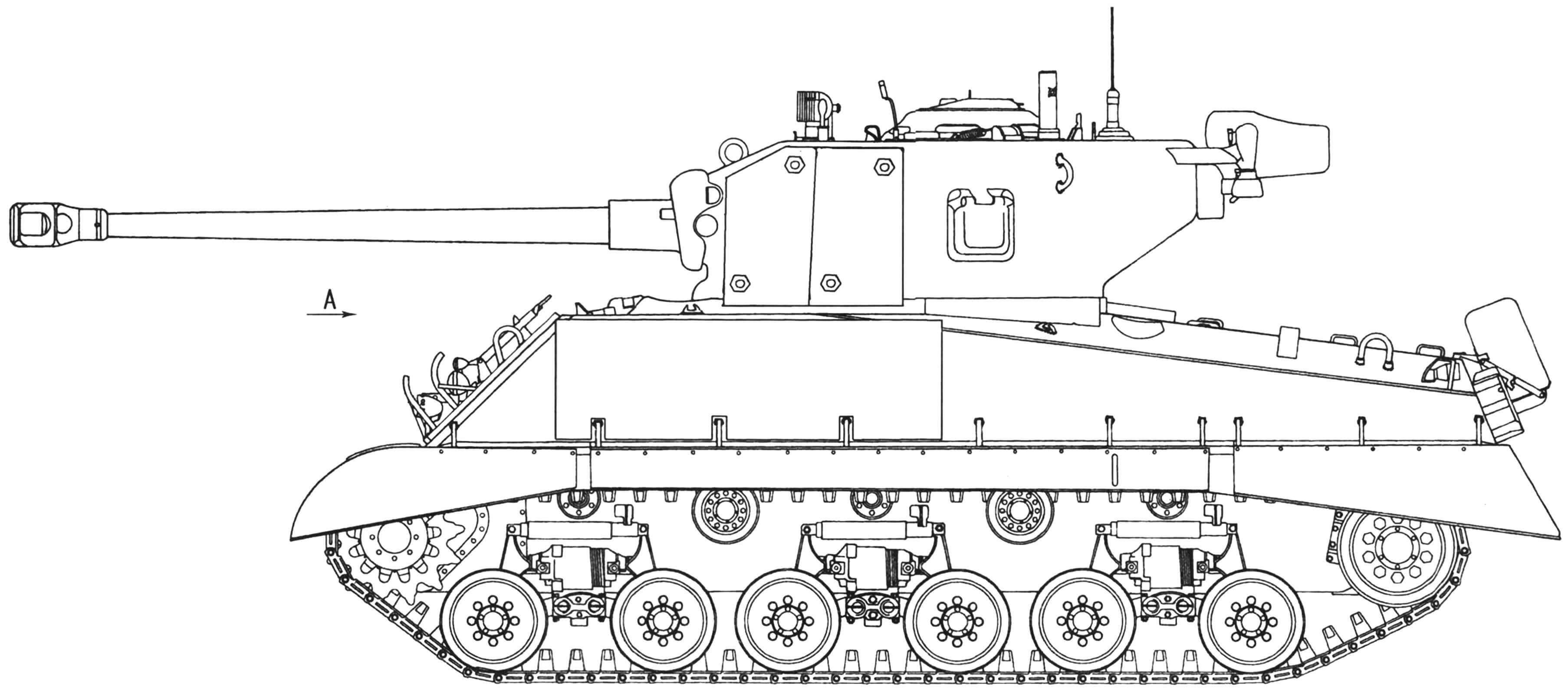 Средний танк М4АЗЕ8 с усиленной бронезащитой