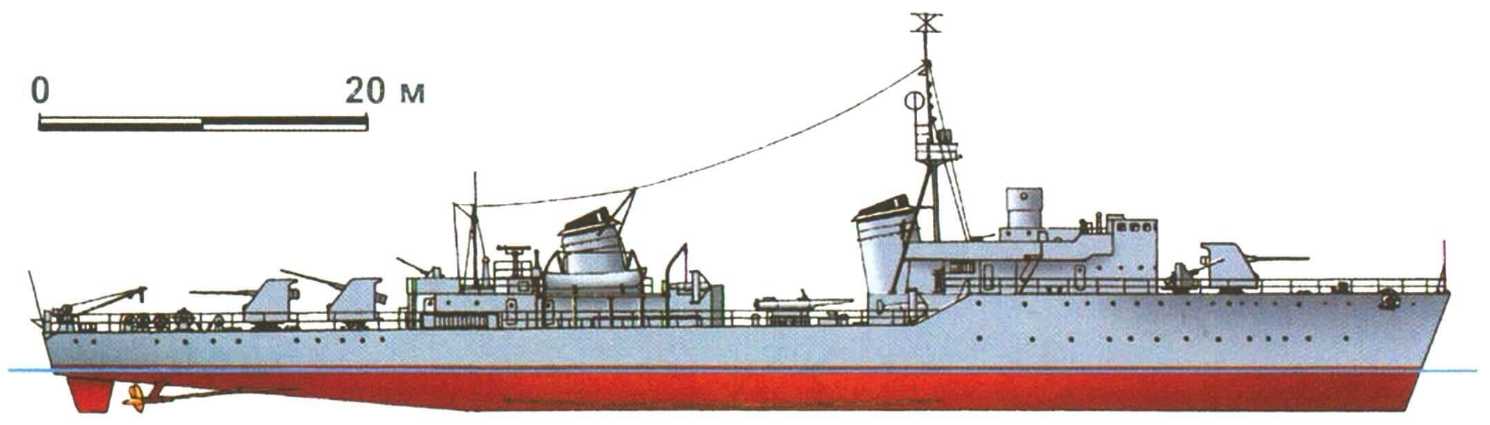 Сторожевой корабль «Ястреб» (проект 29К), СССР, 1945 г.