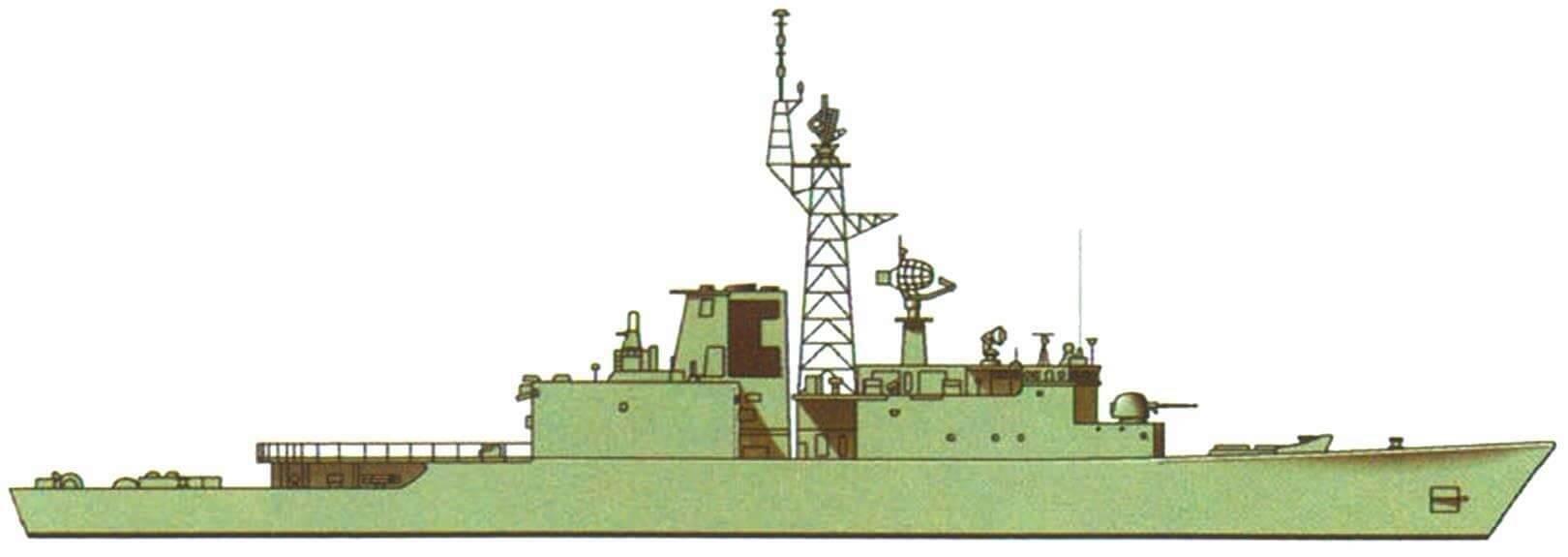 "Эсминец ""Ирокез"", Канада, 1972 г."