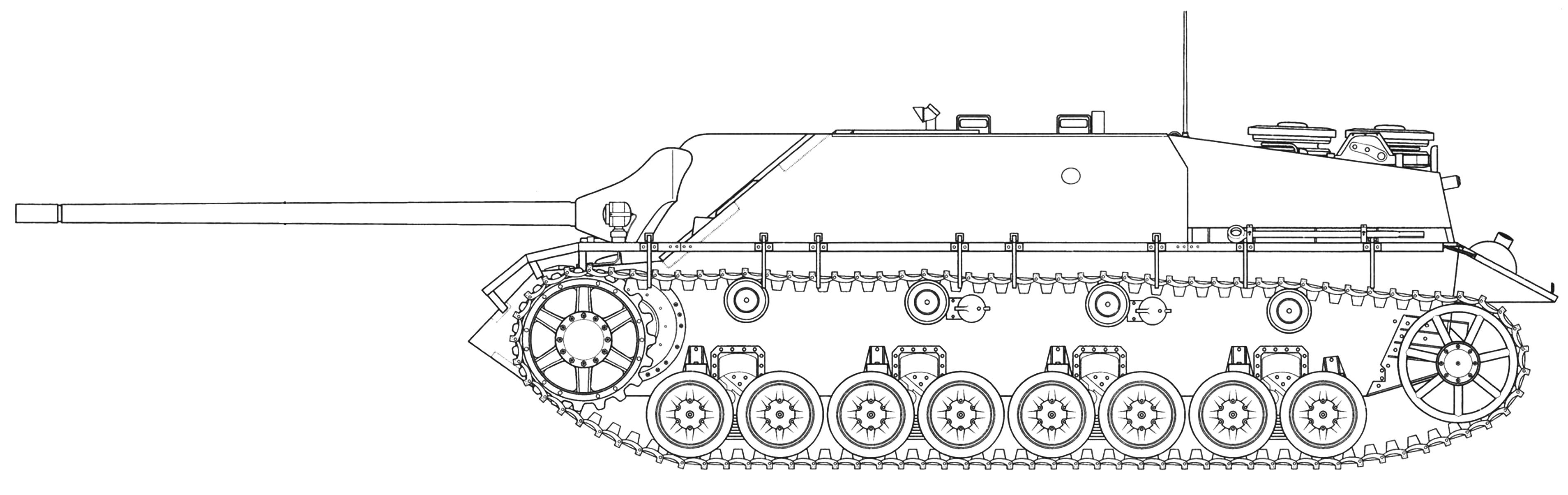 Panzer IV/70 ранних выпусков