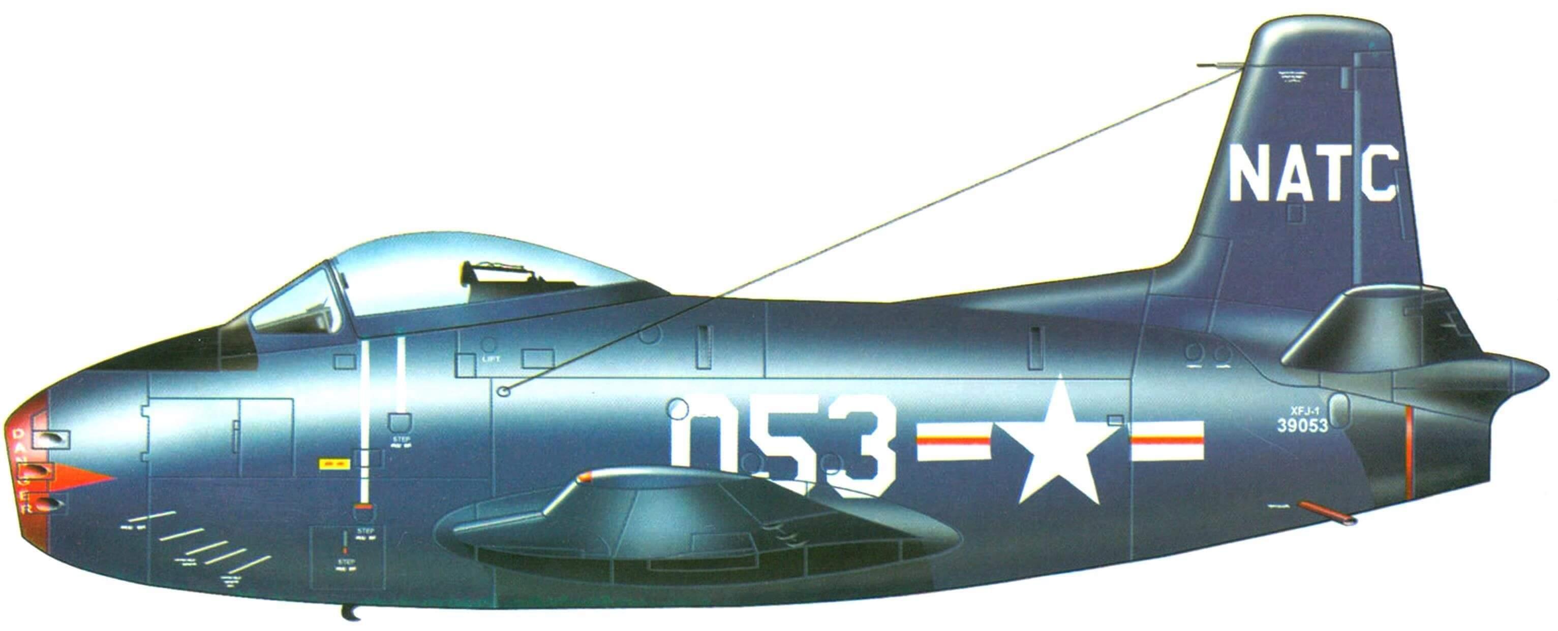 Первый опытный экземпляр XFJ-1 (NA-134). Морской испытательный центр. 1946 г.
