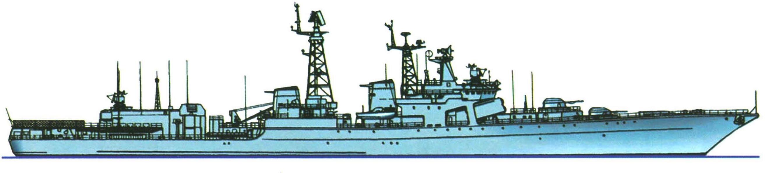 """Большой противолодочный корабль """"Адмирал Захаров"""" (проект 1155), СССР, 1981 г."""