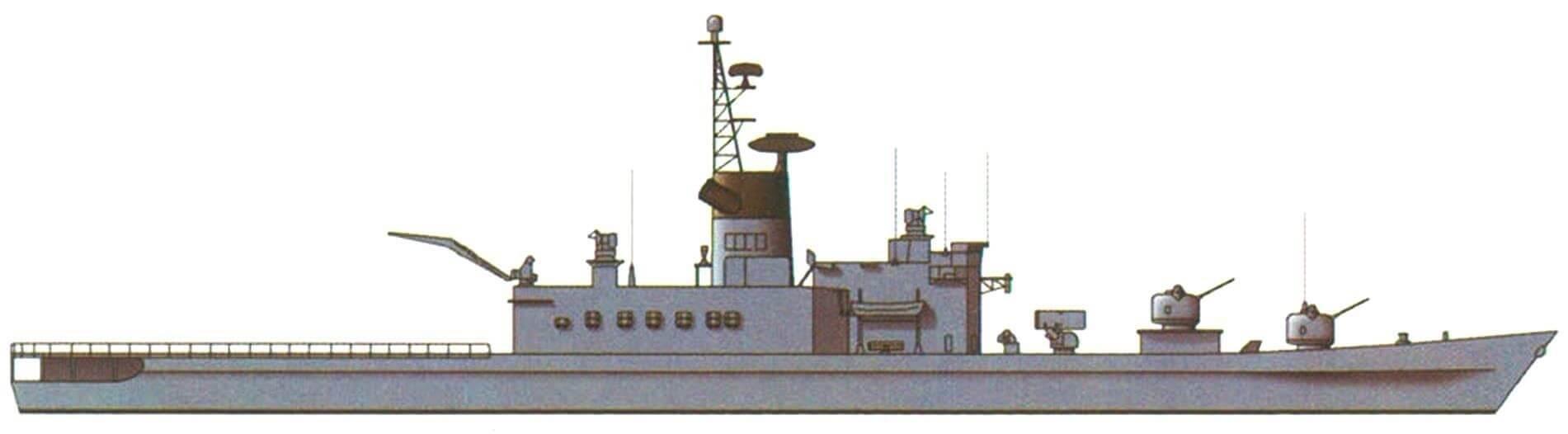 """Эсминец """"Харуна"""", Япония, 1973 г."""