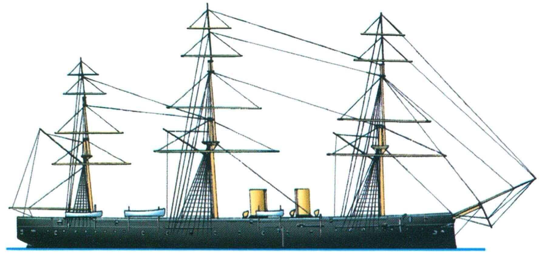 Винтовой фрегат «Шах», Англия, 1876 г.