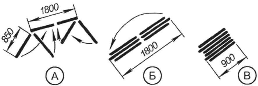 Схема складывания теплицы