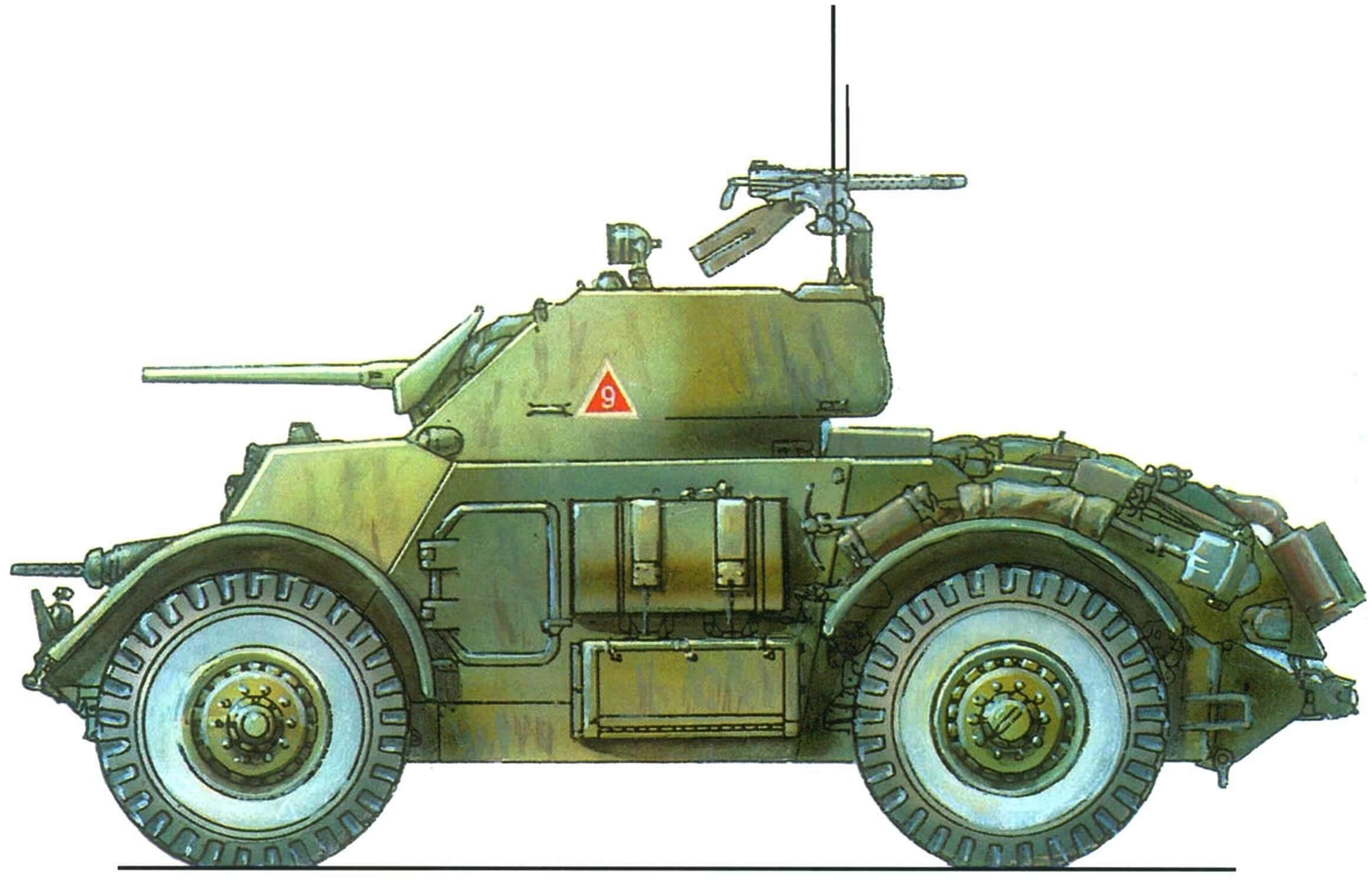 Бронеавтомобиль Staghound I. Моторизованный батальон карабинеров. Милан, 1952 г.