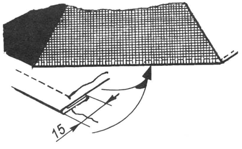 Рис.4. Круговая подрубка края тента