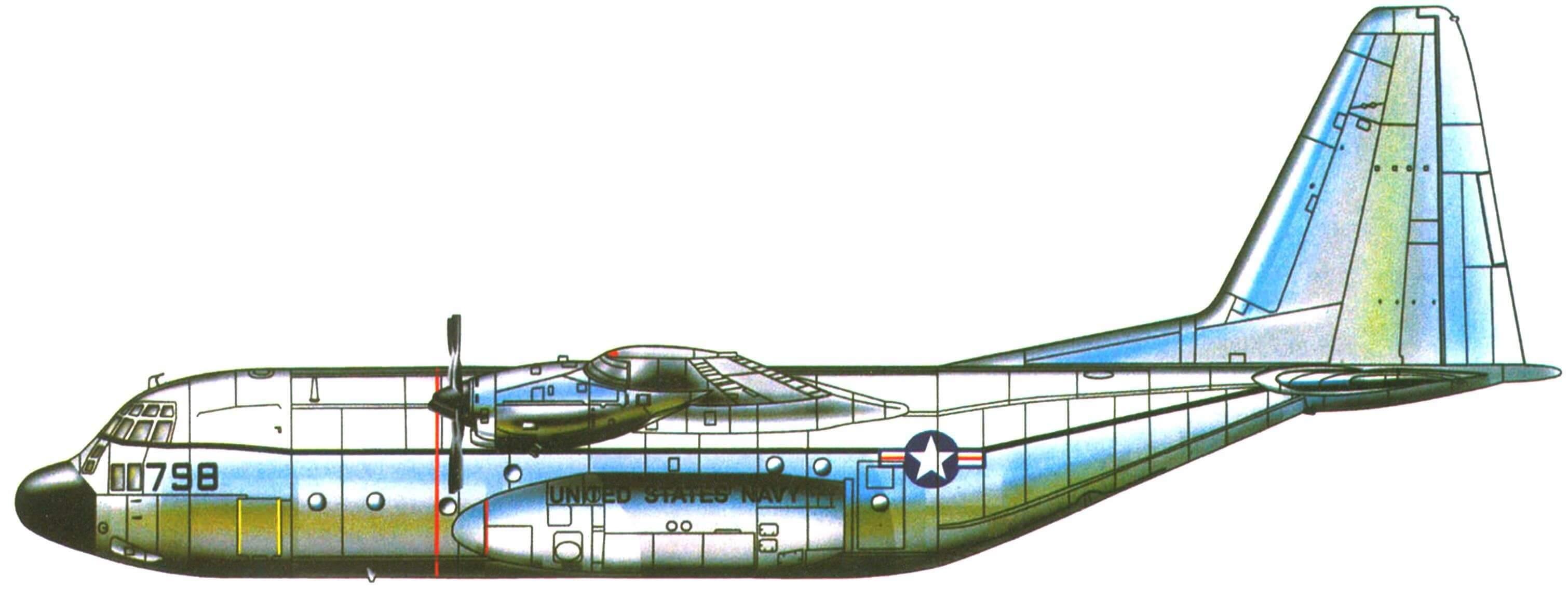 """KC-130F, летавший с палубы авианосца """"Форрестол"""" в октябре 1963 г."""