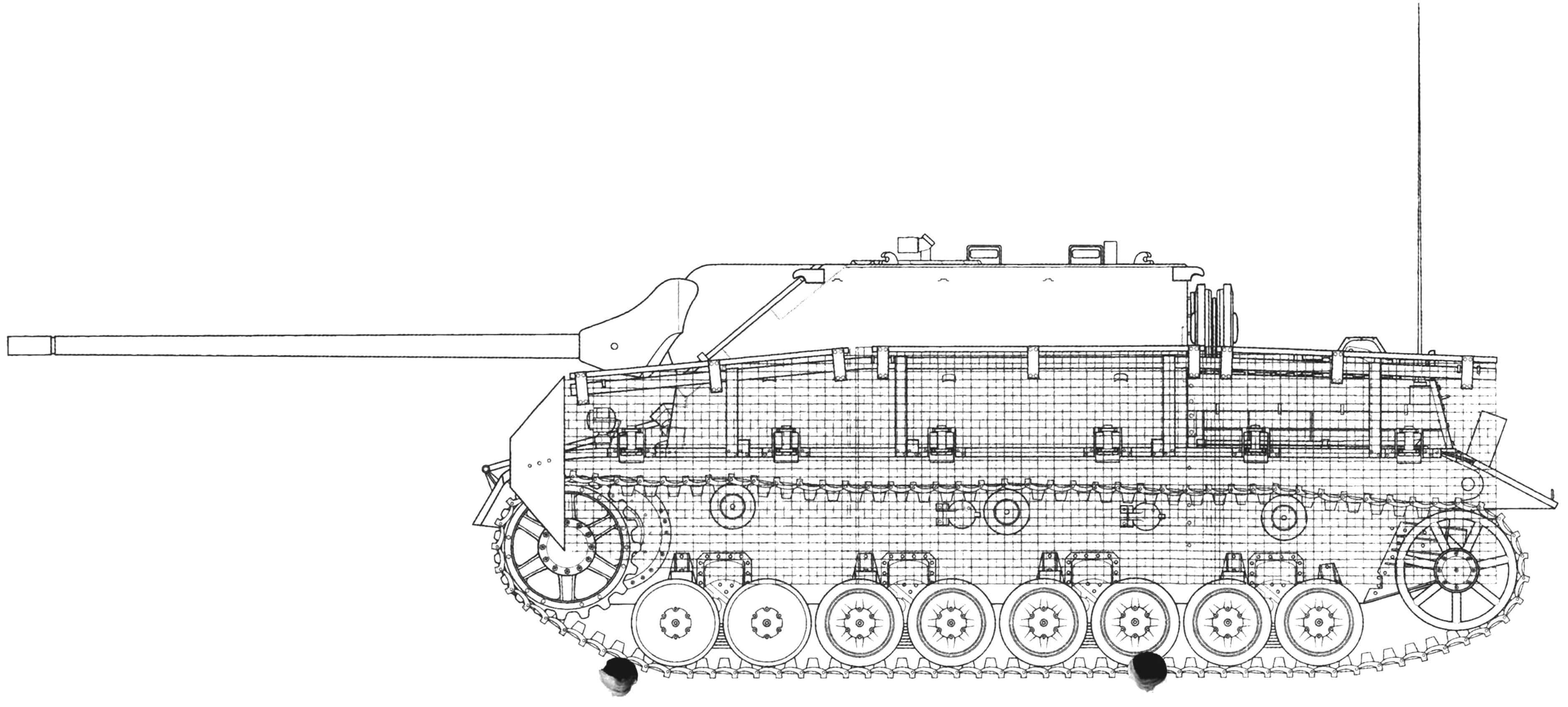 Panzer IV/70(A) с сетчатыми экранами «типа Тома»