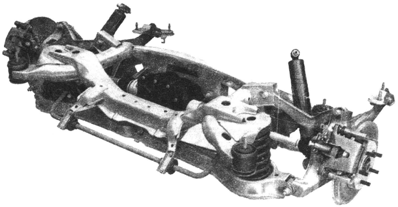 Многорычажная задняя подвеска автомобиля Jaguar X-type