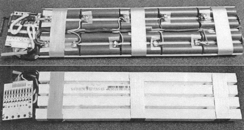 Аккумуляторы типа 18650 расположены внутри кабель-канала сечением 16x16 мм