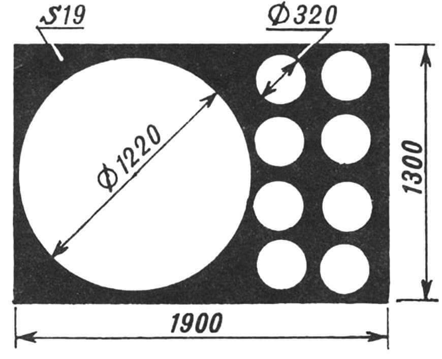 Заготовка для круглых элементов комбинированного стола
