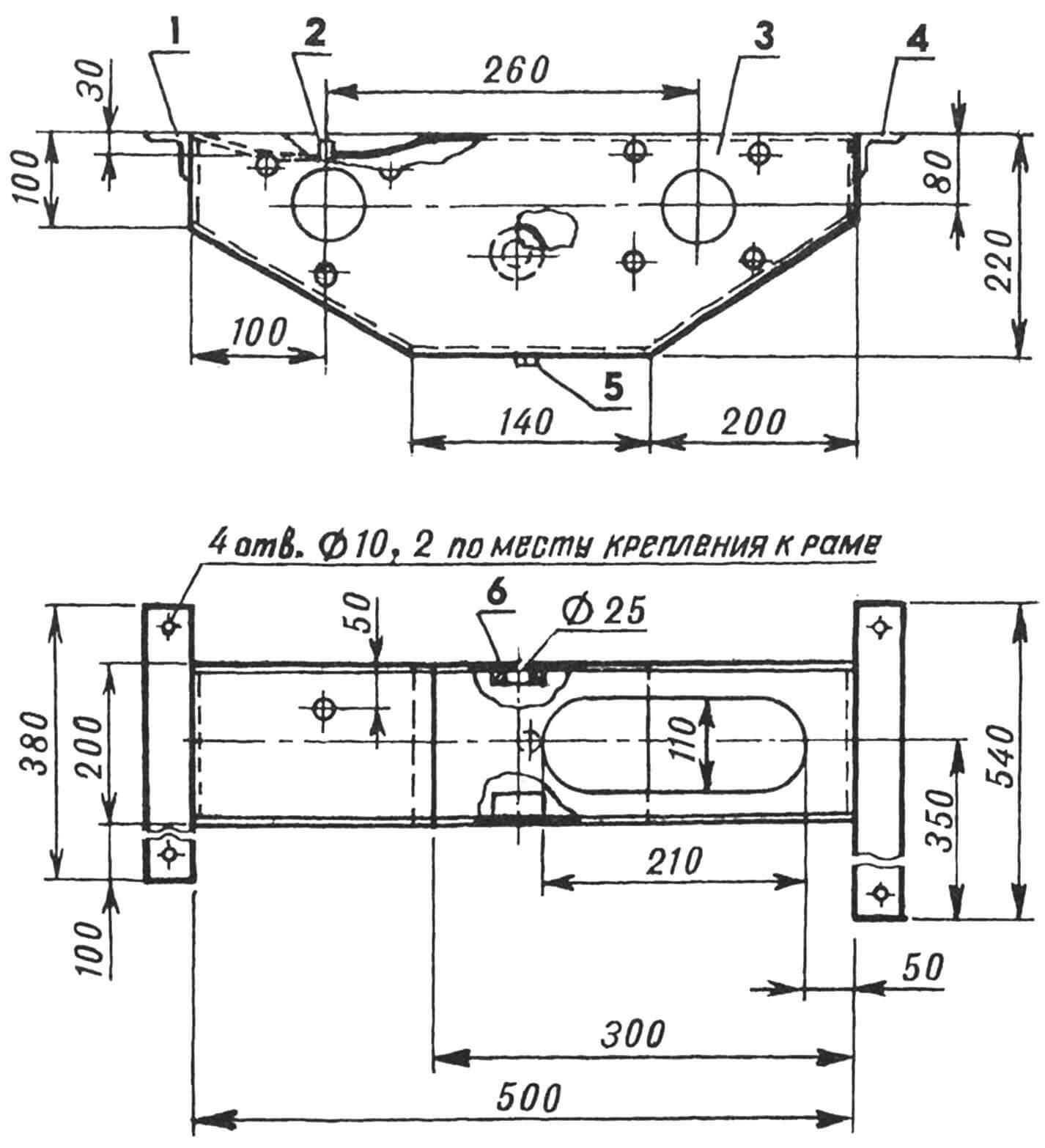 Корпус редуктора (крышка монтажного люка снята)