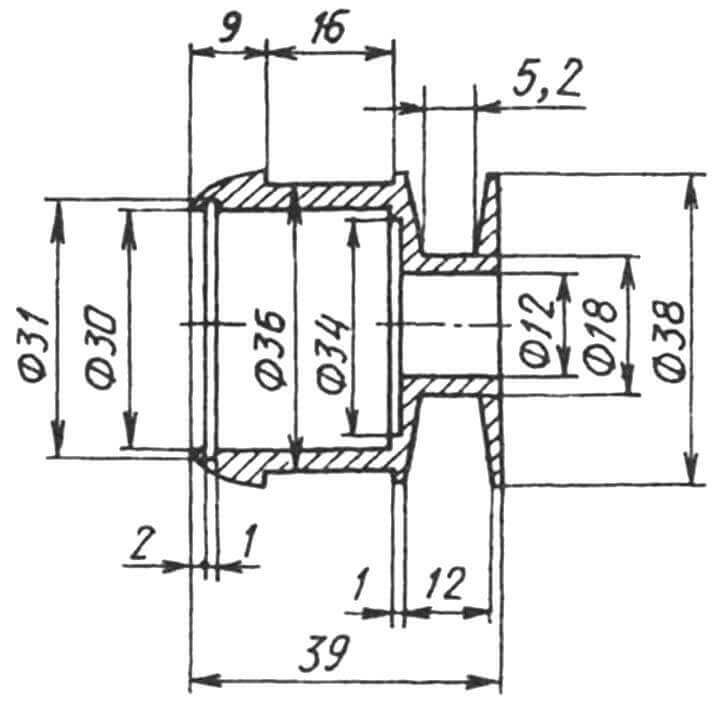Втулка-шкив вентилятора