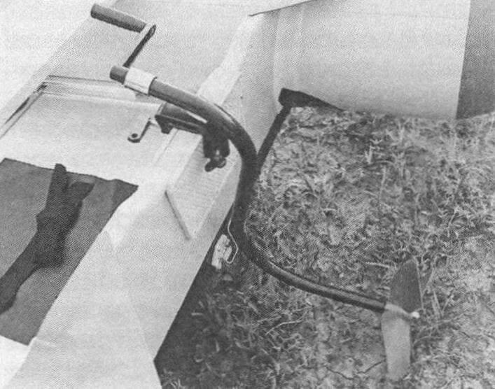 Лодочный «мотор»с ручным приводом. Предлагается на продажу в Подольске (фото из интернет-«барахолки»)