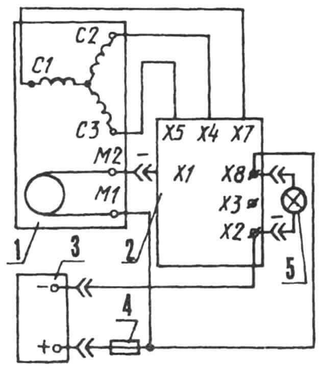 Принципиальная электрическая схема мини-электростанции