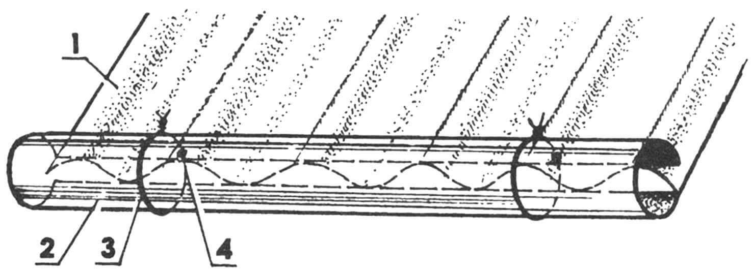 Трубчатый желоб