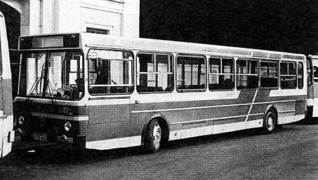 Автобус ЛиАЗ-5256 на испытаниях в Ленинграде. 1985 год (фото В. Валлина)