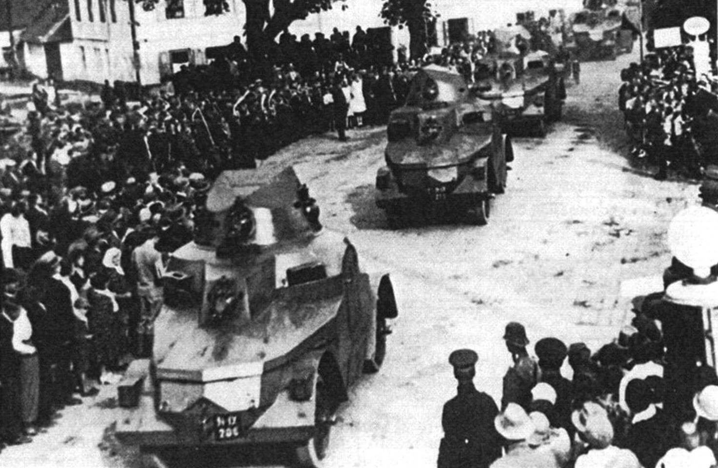 OA vz.27 на маневрах чехословацкой армии
