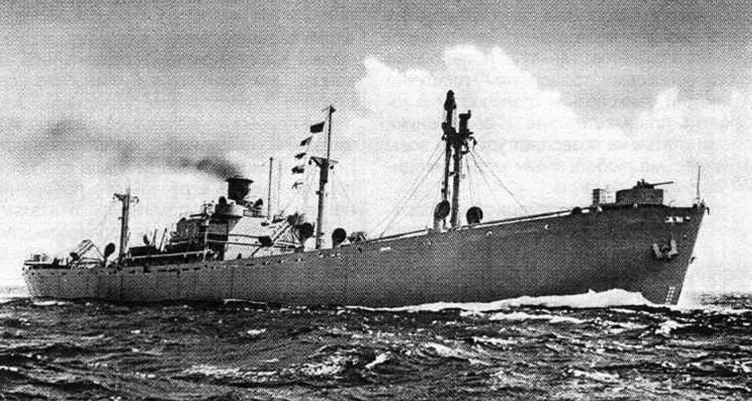 Пароход «Артур М. Хадделд», фотография периода Второй мировой войны