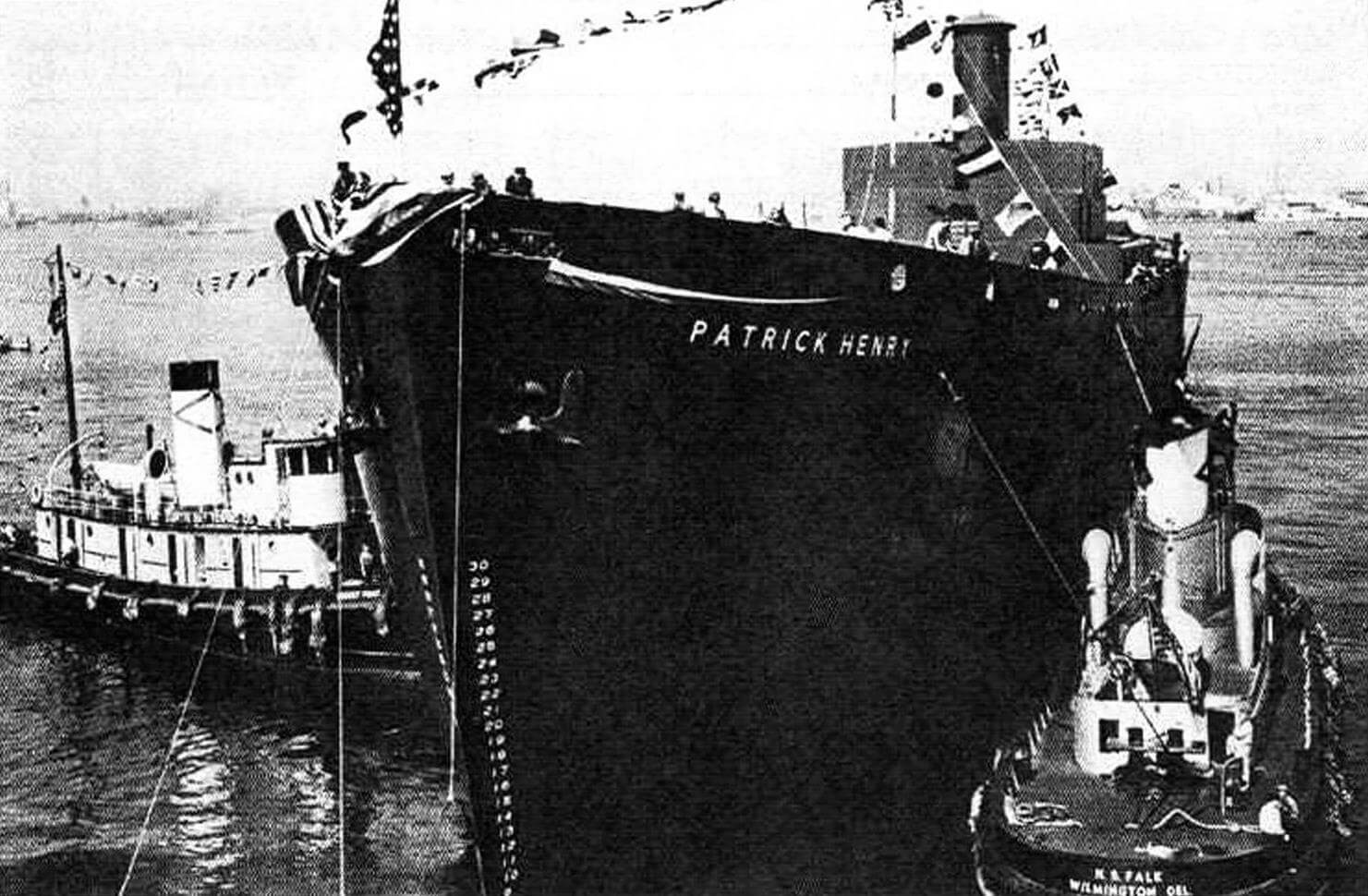 Спуск на воду первого судна типа «Либерти», парохода «Патрик Генри»