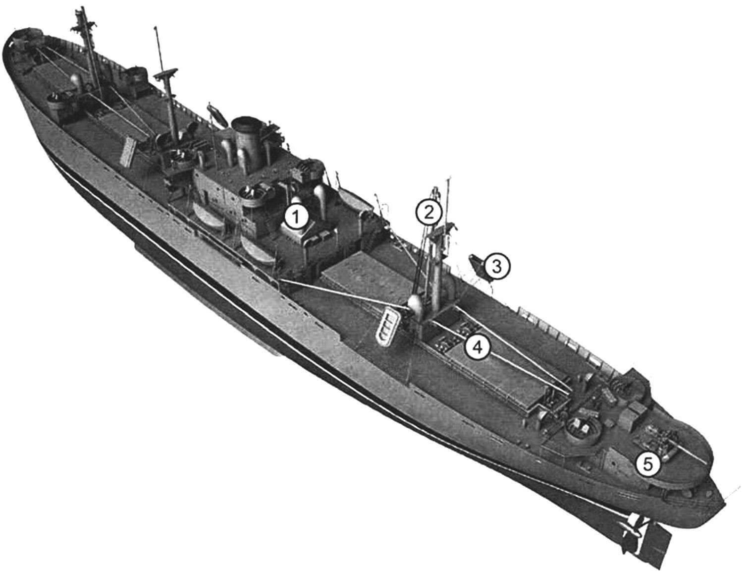 Компьютерная прорисовка внешнего вила судна типа «Либерти»