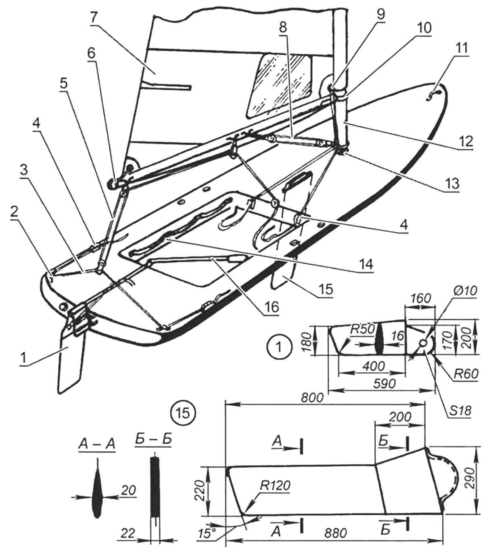 Оснастка парусника в варианте мини-швертбота