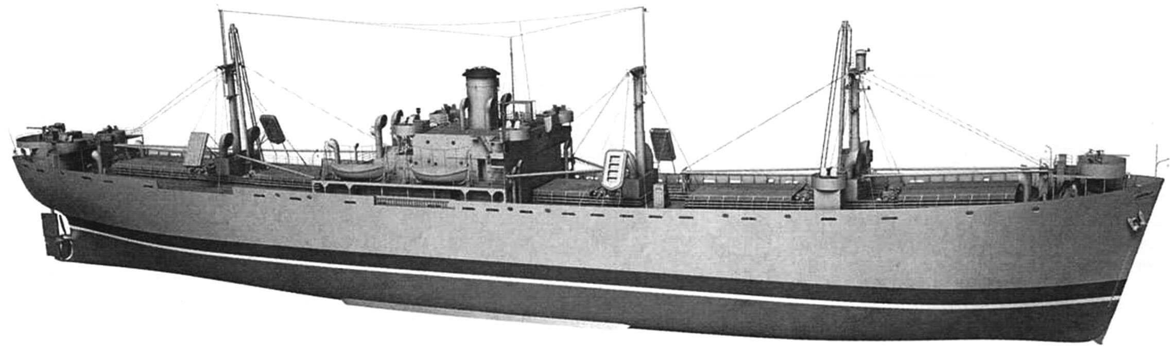 Судно типа «Либерти», внешний вид на период Второй мировой войны, с вооружением